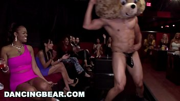 Dancing bear insane cfnm party with gang of...