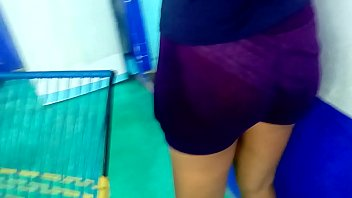 My cousin in transparent shorts 1