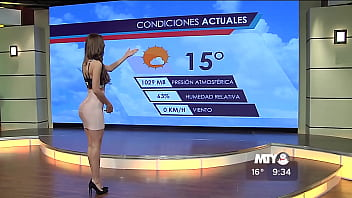 Naked weather reporter - Yanet garcia gente regia 09-30 am 03-dic-2015 full hd