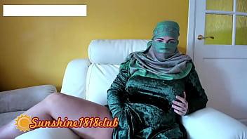 Arab muslim girl in hijab burqa on webcam live sex August 12th 61 min