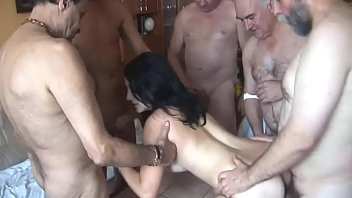Old Guys Gangbang Innocent Brunette Teen