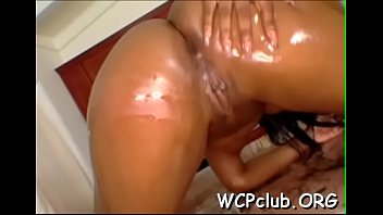 Black chick feels enormous big black dick in throat and booty