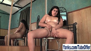 Hairy thighs Pierced amateur girl miel fingering her pussy