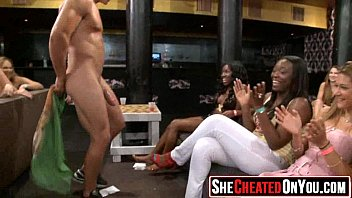 41 Rich milfs blowing strippers at underground cfnm party!16
