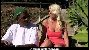 Hot blonde milf having interracial sex at home 18