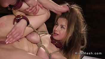 Natural busty babe gets zapper and anal sex