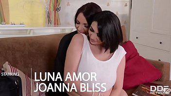 Sexy Lesbians with Titantic Tits masturbate together for 1st time!
