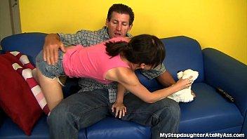 Dirty Girl Licks Stepdad's Ass Preview