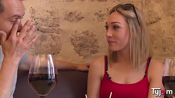 Blonde Goddess Lily Labeau taste some wine an a big hard cock porno izle