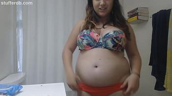 Sexy belly play - Sexy chubby bikini body