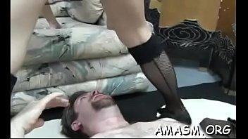 Astonishing maid fucks nicely