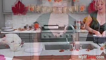Blonde Mom Lets Son Stuff Her Turkey- Dee Williams