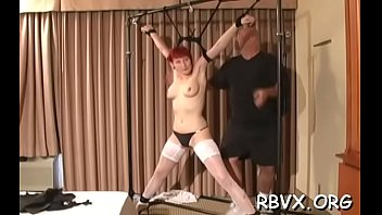 Absolute xxx Ditry bitch gets absolutely bounded and titillated by a toy