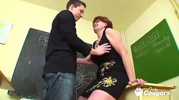 Mature Teacher Bangs Her Student In Class 26 min