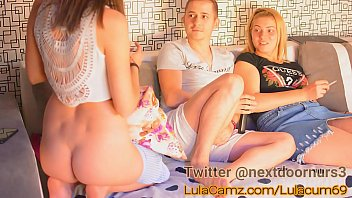Couple threesome on webcam