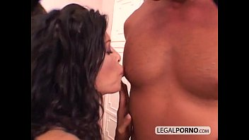 Two hot brunettes in a foursome with two large cocks GB-1-02