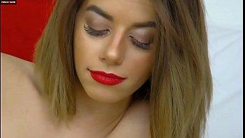 Sexy Camgirl Strip and Cum on Webcam