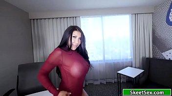 Latina gives her guy an amazing blowjob thumbnail