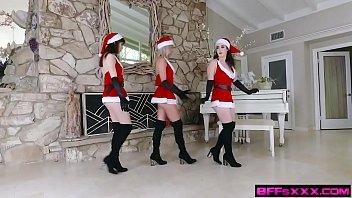 Jingle Bell Cock - Paisley Bennett, Aliya Brynn, Lyra Lockhart - FULL SCENE on http://BFFsXXX.com