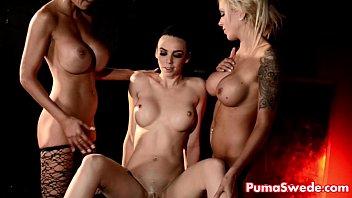 Girl with three tits video - Euro babe puma swede fucks tiffany nina elle in threesome