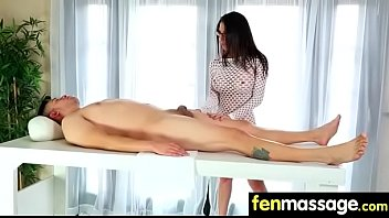 Gorgeous Skinny gets a massage 28