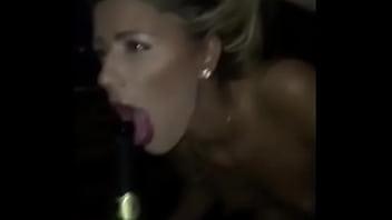 d. girl deepthroats a champagne bottle at a party - ThroatQueens.net