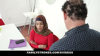 Family Strokes - Stepsister (Maya Farrell) Learns To Suck My Cock In Her Hijab 12 min