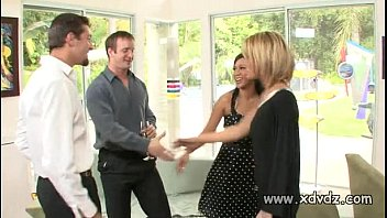 Sexy housewives Sexy housewives holly wellin and kayme kai switch their husbands for one afterno