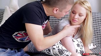 Seductive Russian teen Lola Taylor rides his big fat dick until she orgasms