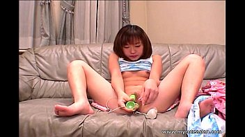 Cute Asian exgf bangs her pussy with a dildo