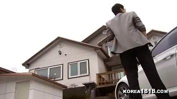 Naughty Korean housewife fucks neighbors