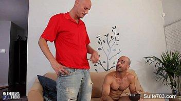 Bald gays taking their cocks 8 min