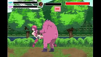 可爱的青少年女孩无尽18 yo与行会迈斯特行动无尽ryona游戏中的森林里的很多男性怪物男人做爱