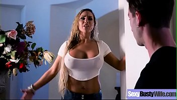 (Tegan James) Sluty Housewife With Big Round Tits On Sex Tape clip-27