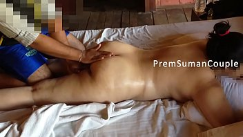Couple drawing nude Desi wife suman getting nude massage hubby filming part 2