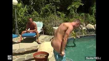 Sexy gays fucking in outdoor pool