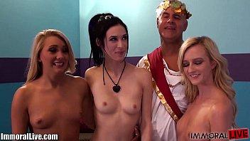 AJ APPLEGATE and Her Girlfriends HOMEMADE ORGY with Prince Yahshua! 10 min