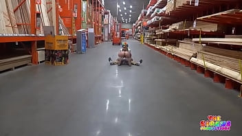Clown gets dick sucked in The Home Depot porno izle