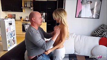 Skinny blonde 38kg Fitness Teen Nina Creamy Fuck German 9 min
