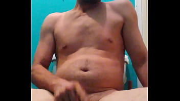 Jacking off sitting on the toilet..