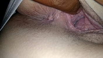 Fingering sleeping wife pussy