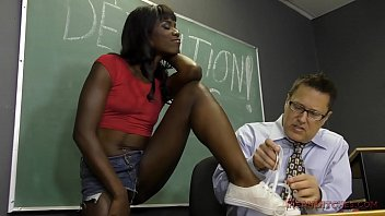 Black Student Seduces Her Teacher Into Becoming Her Slave- Ana Foxxx Femdom