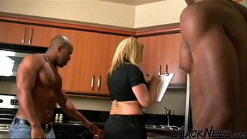 Blonde Step m. In An Interracial Threesome 22 min