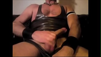 Gay rubber latex - Jacking off in rubber gear