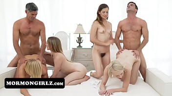Gorgeous Mormon Girls Sucking Two Cocks At Once