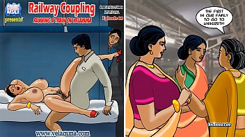 Cartoon comic sex sex - Velamma episode 68 - railway coupling running a train on velamma