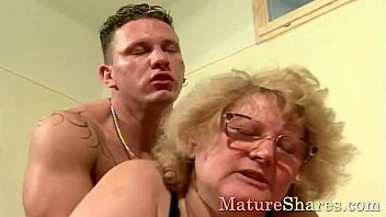 Grandma hot for sex with grandson Sexy granny with big tits exposed