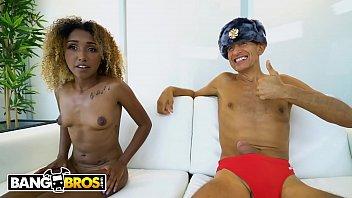 BANGBROS - Petite Black Babe Kiki Star Tries To Fit Big Dick In Every Hole 10 min