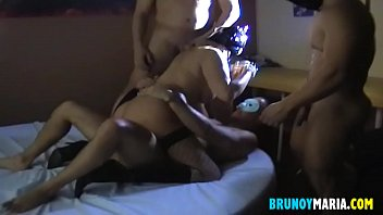 I wanted Cocks and Cum and my husband organized this GangBang ... Maria
