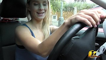 Masturbate at Public Parking in Car Katerina Hartlova 5 min